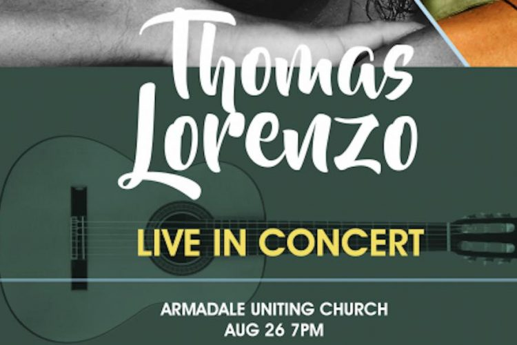 August 26 Melbourne Guitar Concert Thomas Lorenzo Poster