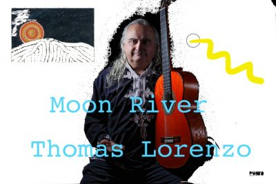 Slow live guitar music, Moon River, Thomas Lorenzo